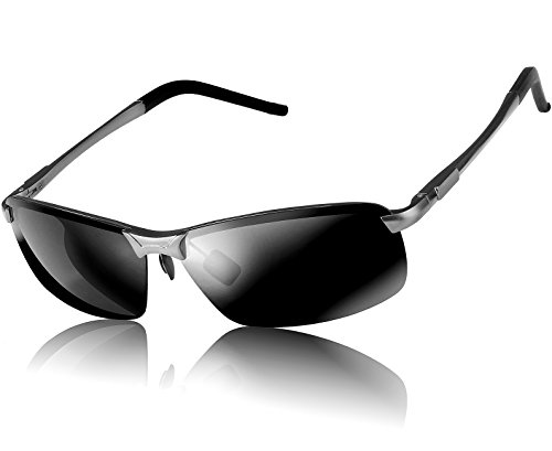 ATTCL Classic Al-Mg Metal Frame Polarized Driving Aviator Sunglasses Al-Mg Metal Frame Ultra Light