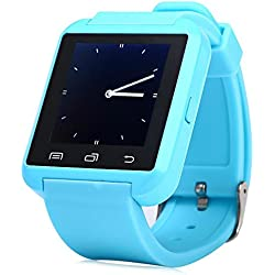 Leopard Shop U8S Outdoor Sports Smart Watch Bluetooth 3.0 Remote Camera Blue