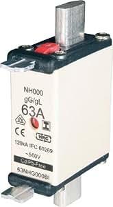 NH-Sicherung, C00, 20A, 400V gL-gG mit Doppel Kennmelder