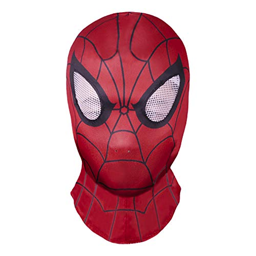molezu Spider-Man Face Maske Halloween Costume Party Cloth Party Mask Hood for Role Play Costume A One Size Mask Unisex Headgear Cosplay Halloween Mask Helmet Props Movies (Spider-Man)
