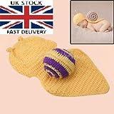Baby Kleinkind Neugeborenen Hand gestrickt häkeln Strickmütze Hut Kostüm Baby Fotografie Requisiten Props (Schnecke)