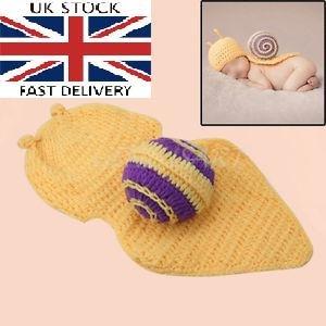 borenen Hand gestrickt häkeln Strickmütze Hut Kostüm Baby Fotografie Requisiten Props (Schnecke) ()