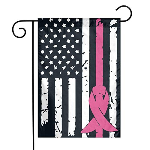 0 Breast Cancer Awareness Flag Garden Flag House Banner for Party Yard Home Outdoor Decor -