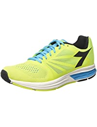 Diadora Men's Kuruka Running Shoe (10. 5 D(M) US, Fluo Yellow/Fluo Blue/Black)