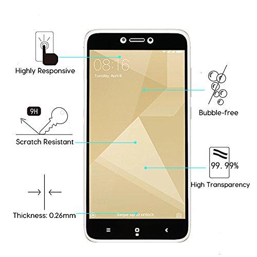 Aidee Cristal Templado para Xiaomi Redmi 4X [2 Unidades] Cristal Vidrio Templado Protector para Xiaomi Redmi 4X [Ajuste Perfecto] [Sin burbujas] Protector Pantalla para Xiaomi Redmi 4X Negro