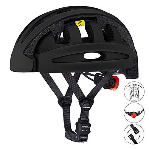 DGHHUFAHF Helm Falten Fahrradhelm mit tragbaren verdicken Sicherheit Faltbare Fahrradhelm Ce-Zertifizierung City Helm