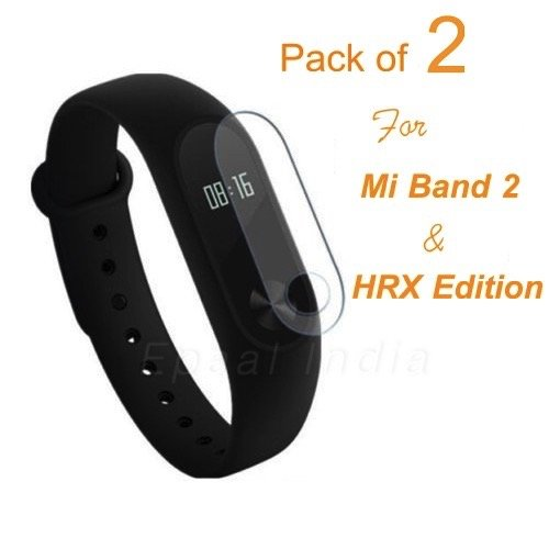 Premium Front Screen Scratch Guard Protector for Xiaomi Mi Band 2 & MI Band HRX Edition with Wet & Dry Wipes (Pack of 2)  available at amazon for Rs.199