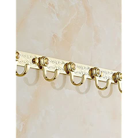 Finitura oro ottone montato a parete Robe ganci