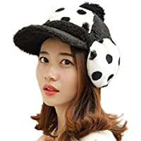 China Show Creativas de Invierno Sombrero con Tapas de oído de cálidos emporgeragten Cubierta de Modo punktiert de béisbol Sombrero Negro
