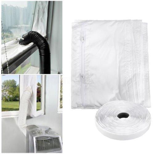 FWXQ AirLock 100 Abluft Fensterabdichtung für mobile Klimageräte, Hot Air Stop (Fensterabdichtung Klimaanlage 400cm)