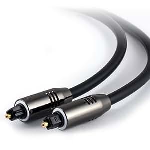 CSL - 7,5m HQ Platinum Toslink (optisch/digital) Kabel (S/PDIF Audio Kabel) | Aluminium Stecker / vergoldete Kontakte | LWL Lichtwellenleiter | Home Entertainment / HiFi / TV / Konsolen / Media Center | 7,5 Meter