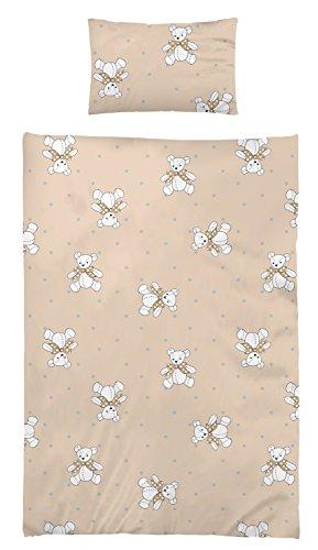 myHomery Kinder Bettwäsche - Bettbezug Set 100x135 cm + 40x60 cm Baumwolle Teddy | Baumwolle - 100x135 + 40x60