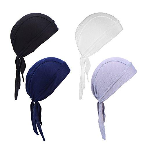 Sport Kopfabdeckungen Outdoor Schnell Trocken Fahrrad Motorrad Schädel Kappe unter Helm Sonne UV Schutz Radfahren Bandana (Helm Schädel Kappe)
