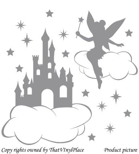 fatina-castello-nuvole-e-stelle-wall-sticker-60-cm-x-60-cm-colore-grigio-fata-sprite-peri-fay-camera
