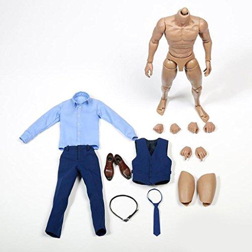 Hellery 1/6 Figur Mit Hemd Weste Hosen Schuhe Anzug Set Für 12