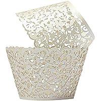 NiceButy 50Pcs Kuchen-Verpackungsmaschine Hohle-Cup-Kuchen-Backen-Paper Lace Cup Muffin Box für Hochzeit Geburtstag Partei-Dekoration Haushaltsprodukte