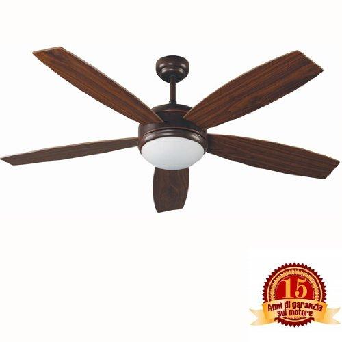 Ventilador de techo con luz VANU FARO 33314 5 palas de madera...