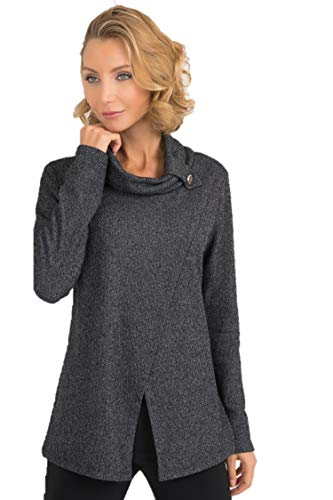 Joseph Ribkoff Charcoal Grey Top Style - 193615 Fall 2019 Collection