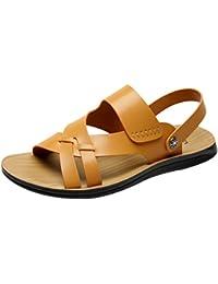 Vogstyle Herren Casual Sandals Offene Schuhe Pantolette Flach Outdoor Sandalen