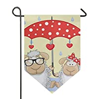 MONTOJ Sheep And Umbrella Home Sweet Home Garden Flag Vertical Double Sided Yard Outdoor Decorative