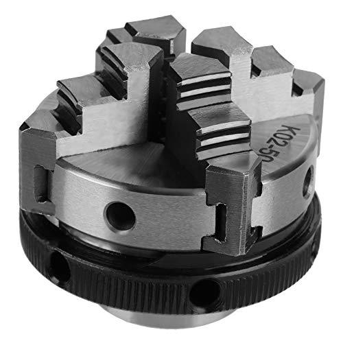 50mm Mini 4 Jaw Reversibile Autocentrante M14 Thread Mount Tornio Manuale Chuck K02-50 con 2pcs Lock Rod