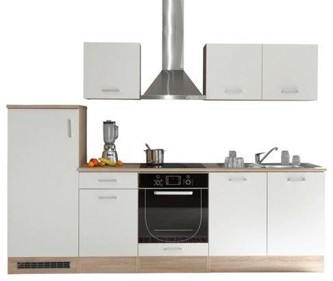 Cucina in quercia sonoma d'imitazione / bianco opaco d'imitazione, ca. 270x195x60 cm