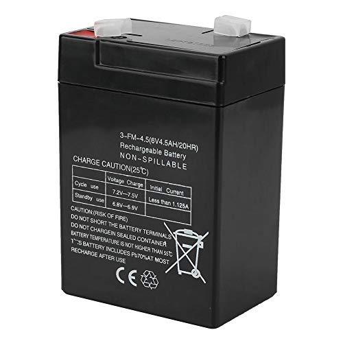 DealMux Batteria al piombo-acido sigillata, 6V 4.5Ah / 20HR 3-FM-4.5 Batteria di ricambio ricaricabile all'accumulatore al piombo-acido R