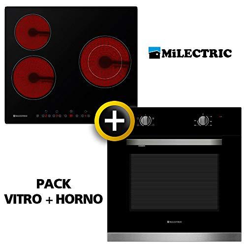 Pack VITRO + Horno MILECTRIC (Placa Encimera mas Horno multifuncion, Pack Ahorro)...
