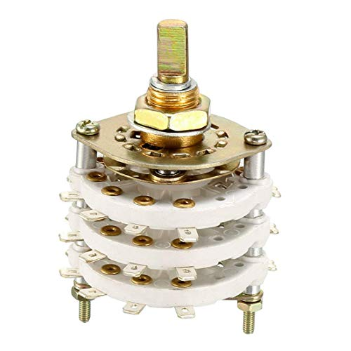 ZCHXD 3P9T 3 Pole 9 Position 3 Deck Band Channel Rotary Switch Selector -