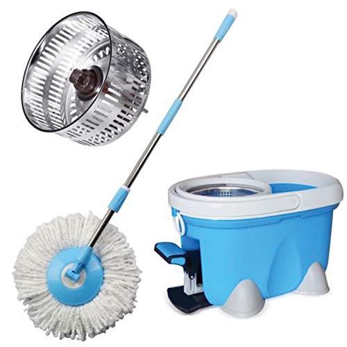 ARSUK Secchi, Lavapavimenti e moci, Clean Set per la Pulizia dei Pavimenti, Snodo Girevole a 360° (Set secchio blu)
