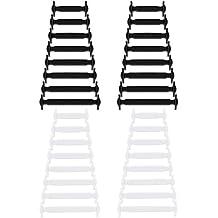 323e5fead72f9 Newkeen 2 pares sin corbata Cordones de zapatos para niños y adultos  cordones de zapatos de