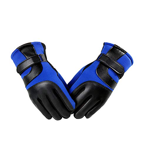 LIOOBO 1 para Winter Outdoor Radfahren Handschuhe Radfahren Handschuhe Winter warme Handschuhe Laufen Klettern Outdoor Sports verdicken Winddichte Handschuhe freie größe (blau) -