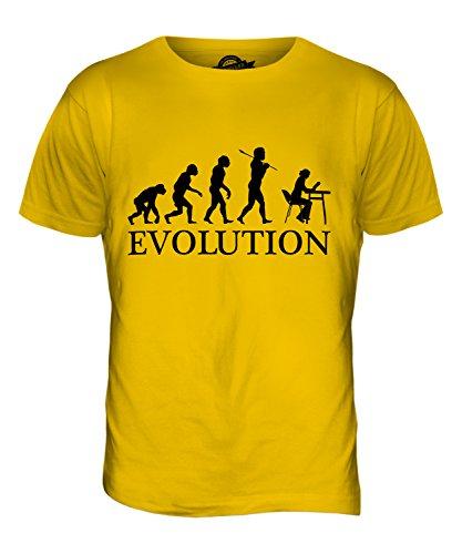 CandyMix Bibliothek Evolution Des Menschen Herren T Shirt Dunkelgelb