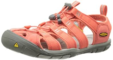 Keen  CLEARWATER CNX W-HOT CORAL/DRIZZLE, sandales femme - Orange  - Orange (HOT CORAL/DRIZZLE), 37.5 EU