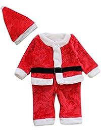 Le SSara Hiver bébé Noël barboteuse nouveau né Body Costume costume chapeau 2 pcs