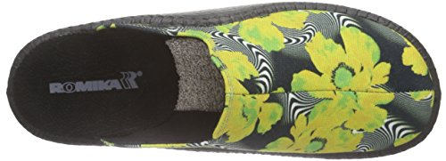 Romika - Mokasso 119, Pantofole Donna Nero (Schwarz (schwarz-gelb 116))