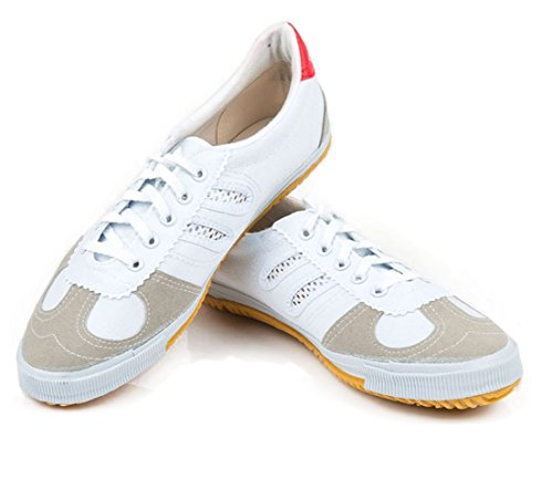 osdream Leinwand Kung Fu Schuhe, unisex damen Jungen Herren, weiß - Weiß Boxing Schuhe