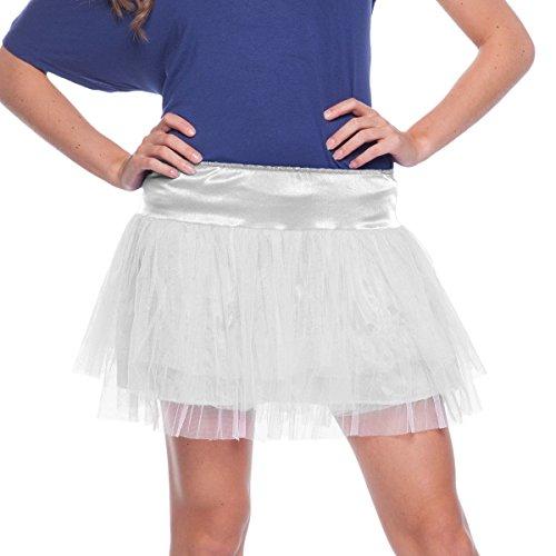 Folat 63680-Blanco Tutu Mujer-One Size