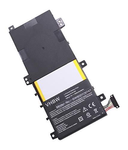 vhbw Li-Polymer Batterie 5000mAh (7.6V) pour Ordinateur Portable, Notebook ASUS Transformer Flip TP550LA, TP550LD comme C21-N1333, C21N1333.