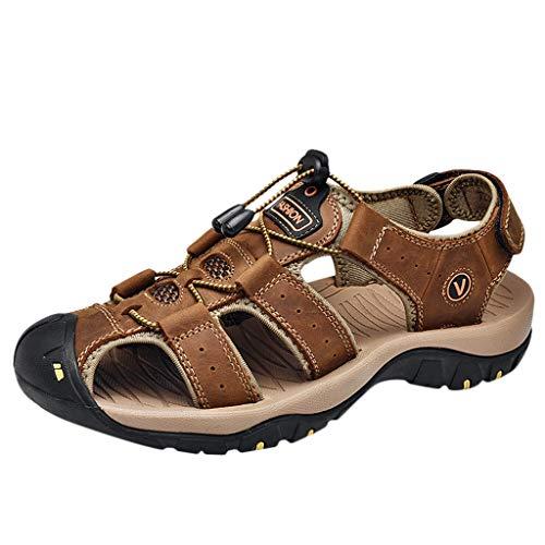 Sandali Unisex - Adulto Summer Sport Sandali Uomo Scarpe da Acqua All'Aperto per L'Escursionismo Uomo Zoccoli Spiaggia Giardinaggio Gomma Ospedale Esterno Pantofole