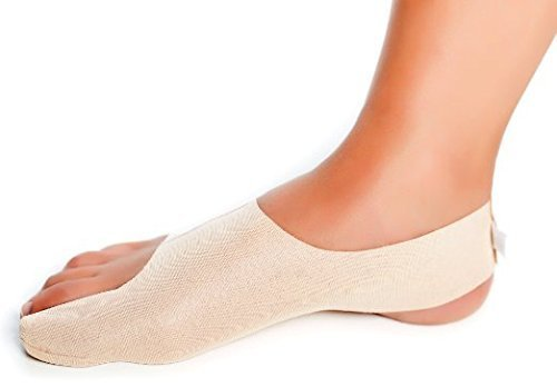 BunionBootie Corrector de juanetes ultrafino. Alivia juanetes leves o moderados (hallux valgus). Coloca suavemente el dedo gordo del pie. Es ultrafino y se llevar cómodo. derecho tamaño XL