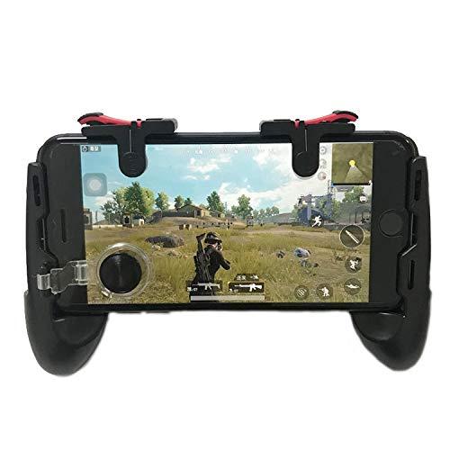 Kaneed Gamepad 4 in 1 D9 isst Huhn zur Unterstützung der Jedi Survival Stimulation Battlefield Mobile Griff Gamepads, für iPhone, Galaxy, Sony, HTC, LG, Huawei, Xiaomi, Tablet Pad - Htc Phone Pad