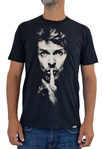 Faces Herren T-Shirt David Bowie Handserigraphie mit Wasser (XXL Herren)