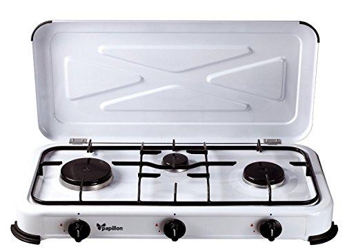 Papillon 8145055 - Cocina gas, 3 fuegos, color blanco