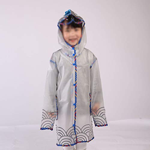 Rainnna Kinder Regenbekleidung,Wasserdichte Regenjacke Schützt Kind Und Fahrradkindersitz Vor Nässe Für Reisen Camping Wanderurlaub,L