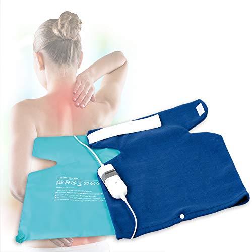 MovilCom® - Almohadilla eléctrica Térmica para la Espalda y Cuello Calentado con Tecnología de Calentamiento...