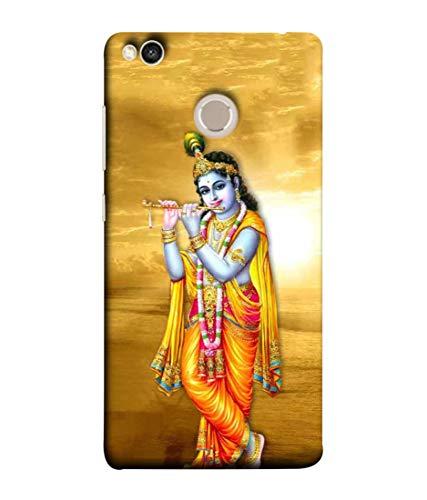 SAMRNG Amazing Designer Back Case Cover for Xiaomi Redmi 4 with The Unique Design of Lord Krishna with Orange backgroundWith The Beautiful Multicolour Colour
