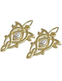 Herr der Ringe Schmuck by Schumann Design Arwens Abendstern Ohrringe Ohrhänger 925 Silber Heraldic/gold 20001761
