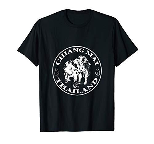 Chiang Mai Shirt Elefant Zuflucht Thailand Thai T-Shirt (Thailand Kostüm Frauen)