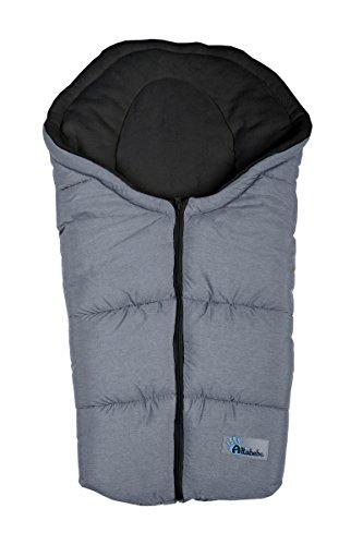 Altabebe AL2009P-01 Winterfußsack Alpin Kollektion für Babyschale, dunkelgrau-schwarz